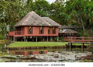 Traditional Brunei House (Rumah Brunei), on display in Akita Kinabalu, Sabah, Malaysia