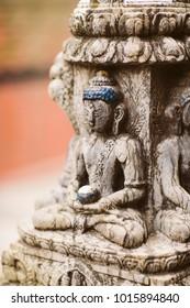 Traditional Buddha statue in Nepal