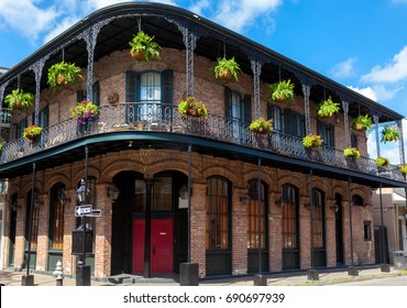 traditional building in french quarter New Orleans