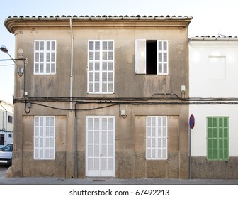 traditional building in a small town on Mallorca island in Spain