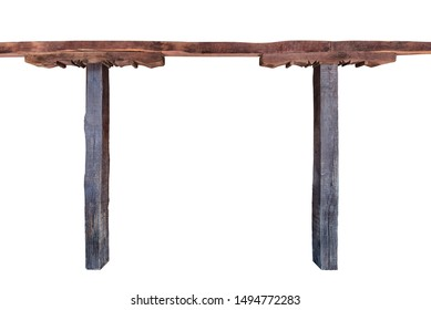 Traditional building wooden frame with columns and beam