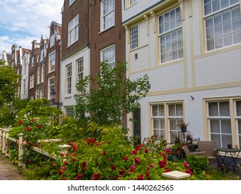 Traditional buildings at Begijnnhof in Amsterdam, Netherlands