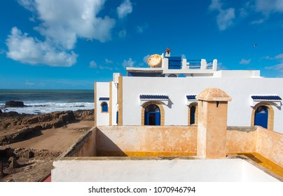 Traditional buildings of Medina district in Essaouira Morocco