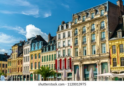 Traditional buildings in the old town on Lille, French Flanders
