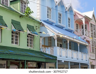 TRADITIONAL  BUILDINGS,CASTRIES,ST LUCIA,WEST INDIES