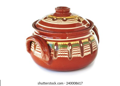 Traditional Bulgarian ceramic pot