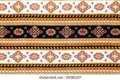 Traditional Bulgarian seamless embroidery - traditional design of fabric.