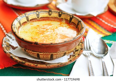 "Traditional Bulgarian soup ""Shkembe chorba"""