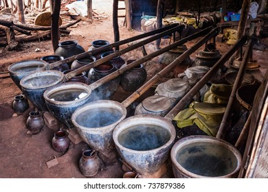 A traditional Burmese handcrafted distiller, Thaya Gone Village, Inle Lake, Shan State, Myanmar