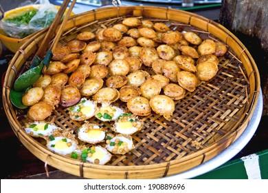 Traditional Burmese street food in Yangon,Burma