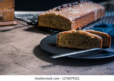 traditional cake with coffee and mocha