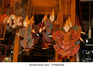 Traditional  Cambodian puppet,  Old Market, Siem Reap,  Cambodia