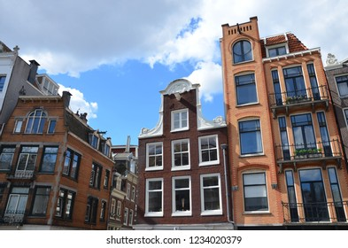 Traditional canal villas in Amsterdam, April