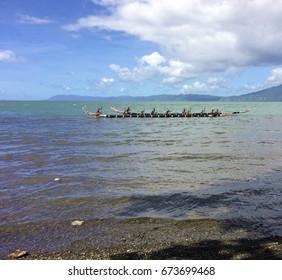 Traditional canoes in Alotau, Milne Bay, Papua New Guinea.