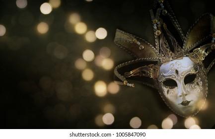 Traditional carnival venetian mask