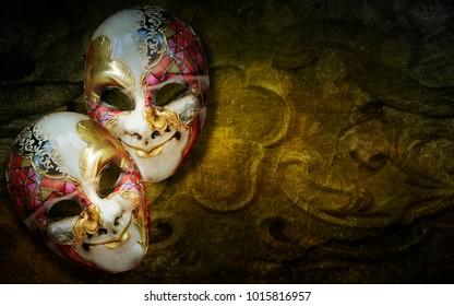 Traditional carnival venetian mask