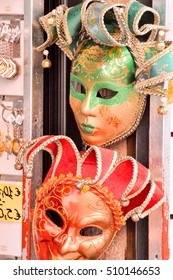 Traditional Carnival Venice mask with Colorful Decoration