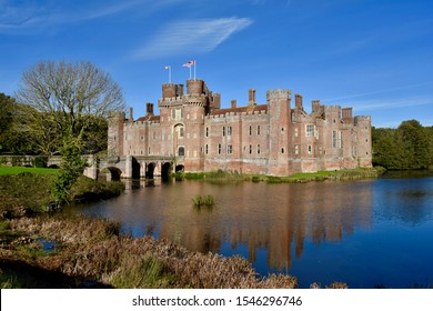 Traditional Castle and Moat in Sussex, England - Shutterstock ID 1546296746