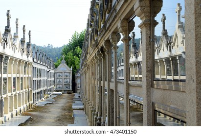 traditional cemetery in Galicia, Spain, rip