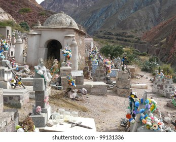Traditional cemetery in northern Argentina. Graves and crypts are above ground, which is common in Roman Catholic culture in Latin America.