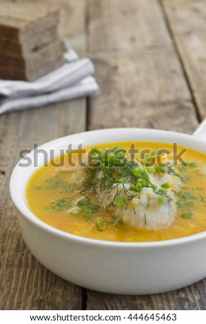 Traditional chicken soup