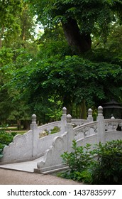 Traditional Chiese stone bridge, travel
