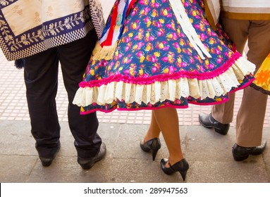 Traditional Chilean dancers