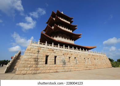 A Traditional Chinese Architecture , View From Ground to The Sky.