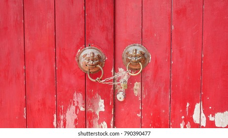 A traditional Chinese crimson door with bronze knockers & Crimson Door Stock Images Royalty-Free Images \u0026 Vectors | Shutterstock