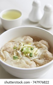 Traditional Chinese dishes is dumplings soup