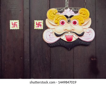 A traditional Chinese door god to protect the household form outside evils