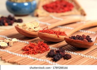 Traditionelle chinesische Medizin, Studioaufnahme, Nahaufnahme