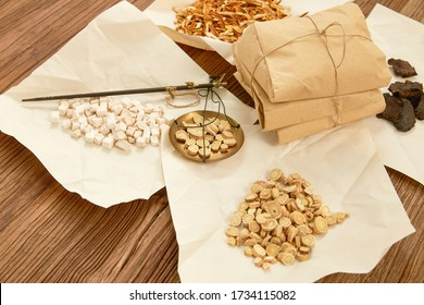 Traditional Chinese medicine (TCM) part of the material