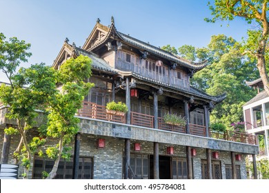 Traditional Chinese old house at Hakka Village in Shenzhen, China
