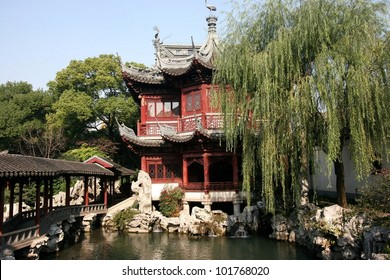 Traditional Chinese private garden - Yu Yuan, in Shanghai, China