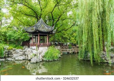 Traditional Chinese private garden - Yu Yuan, Shanghai, China