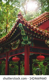 Traditional Chinese temple in park