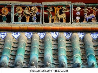 Traditional chinese tile roof background