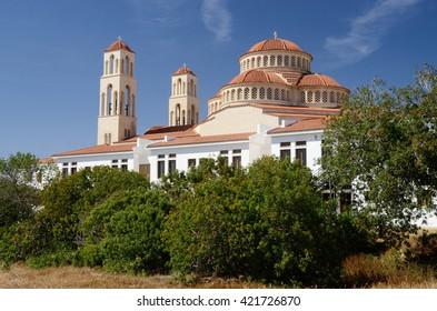 Traditional christian orthodox church in Limassol Cyprus island,Europe