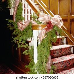 Traditional Christmas Decoration handrail