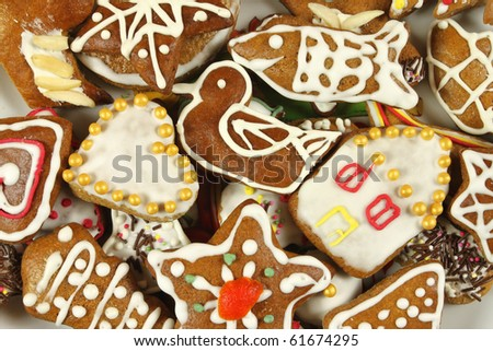 traditional christmas gingerbread cookies polish xmas sweets