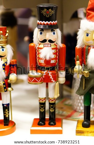 traditional christmas holiday wooden soldier nutcracker close up selective focus christmas toys and - Christmas Soldier Decorations