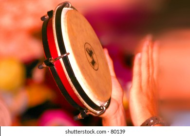"Traditional christmas instrument ""panderos"""