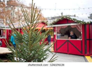 Traditional christmas market decoration