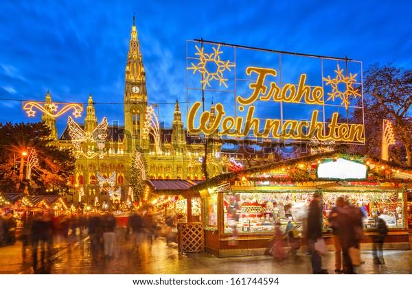 Traditioneller Weihnachtsmarkt in Wien, Österreich