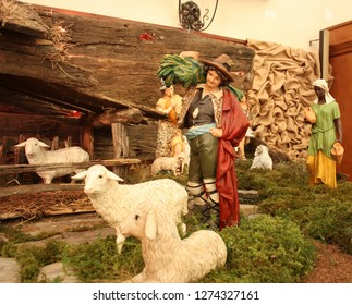 the traditional Christmas nativity scene