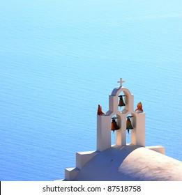 traditional church bell at Santorini, Greece
