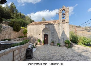 Traditional church in Kapetaniana village, Crete, Greece