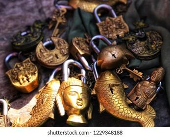 Traditional and classic keys in Katmandu.