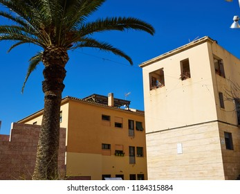 Traditional classical houses the old town of Alicante Costa Blanca Valencia province Spain